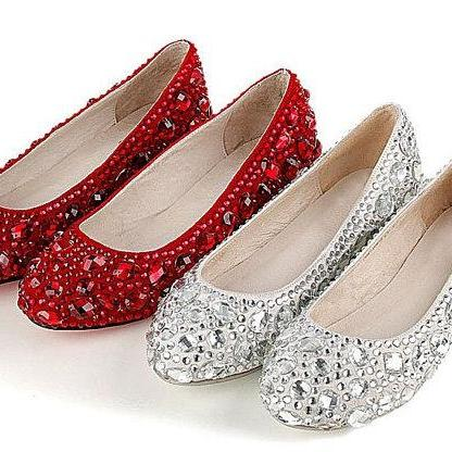 formal shoes jeweled beaded flat heel bridal