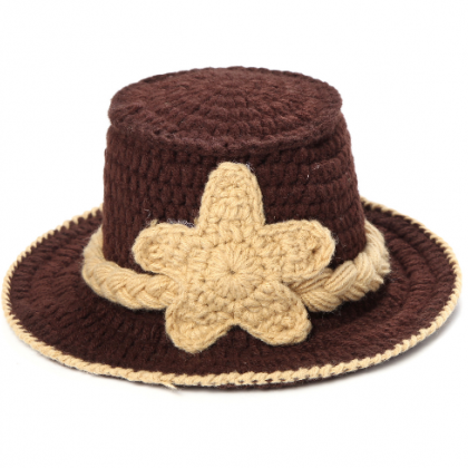 Cowboy hats suit Hand knitted wool ..