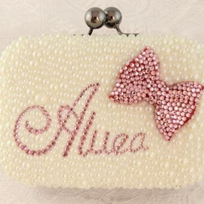 Hot Luxury purses name ladies pearl..