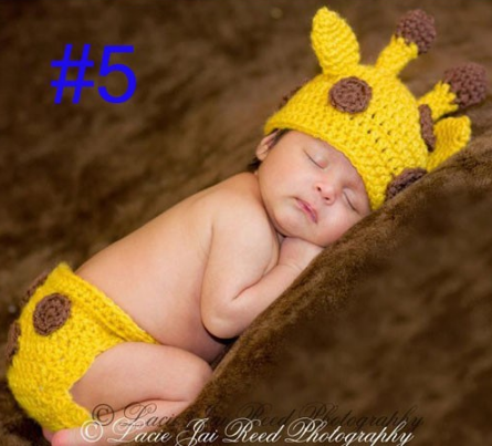 Deer two - piece Hand knitted wool clothes photo prop one hundred days newborn baby photography baby clothes joker pictures clothes