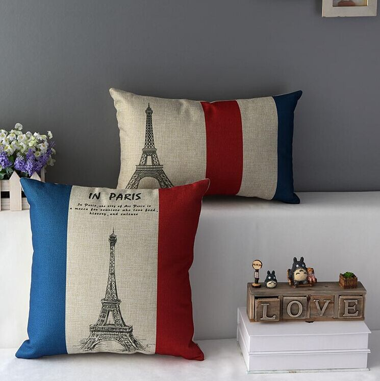 High Quality 2 pcs a set Transmission tower Cotton Linen Home Accesorries soft Comfortable Pillow Cover Cushion Cover 45cmx45cm