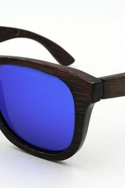 Brown bamboo frame glasses UV coating polarized sunglasses