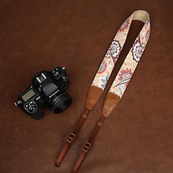 High Quality Floral printing comfortable camera strap Neck Strap elastic carrying a classic for canon nikon sony