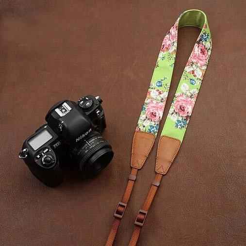 Green jeans printing comfortable camera strap Neck Strap elastic carrying a classic for canon nikon sony