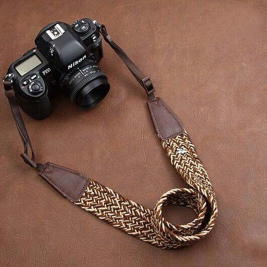Plait New Soft National wind bohemian comfortable camera strap Neck Strap elastic carrying a classic for canon nikon sony