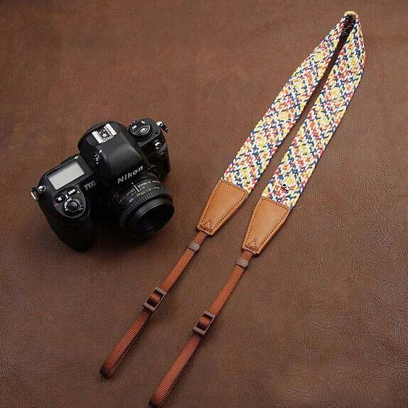 Plait National wind bohemian comfortable camera strap Neck Strap elastic carrying a classic for canon nikon sony