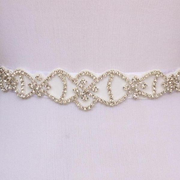 Elegant Bridal Sash Handmade Crystals Beads Exquisite White Wedding Accessories Bride Belt Sash