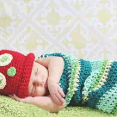 Caterpillars Hand knitted wool clothes photo prop one hundred days newborn baby photography baby clothes joker pictures clothes