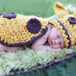 Siamese deer Hand knitted wool clothes photo prop one hundred days newborn baby photography baby clothes joker pictures clothes